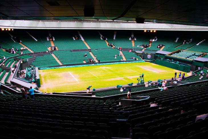 JULY 2013 - LONDON, UK: Inside Wimbledon tennis stadium at centre court.