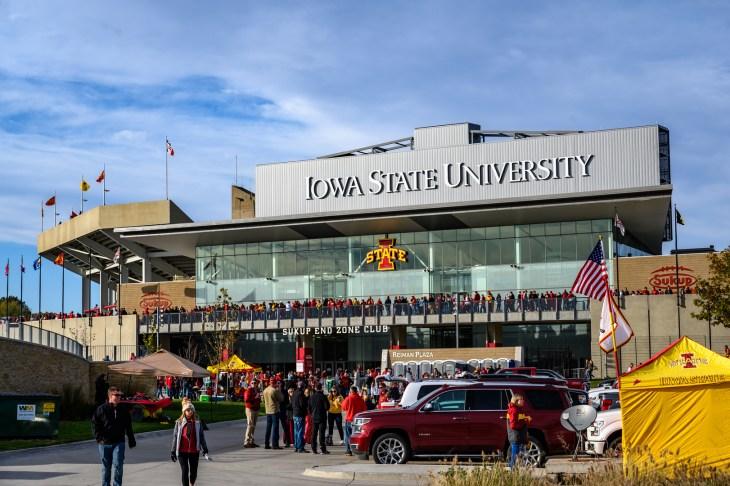 Ames, Iowa, USA - 10/2019: External view of Iowa State Cyclones Football Jack Trice Stadium