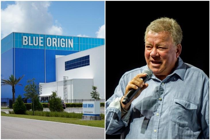 william shatner space flight - blue origin