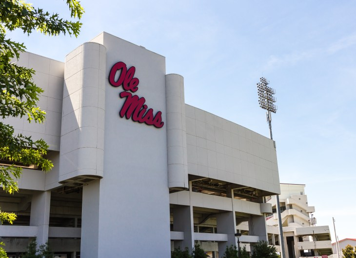 OXFORD, MS, USA - JUNE 14: Vaught-Hemingway Stadium on June 14, 2013 at Ole Miss in Oxford, Mississippi. Originally built in 1915.
