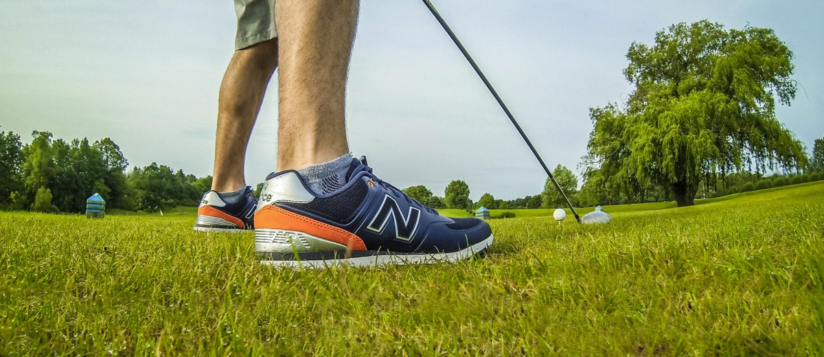 new style 1c8c1 ce26f New Balance Golf 574 - Range Review | Busted Wallet
