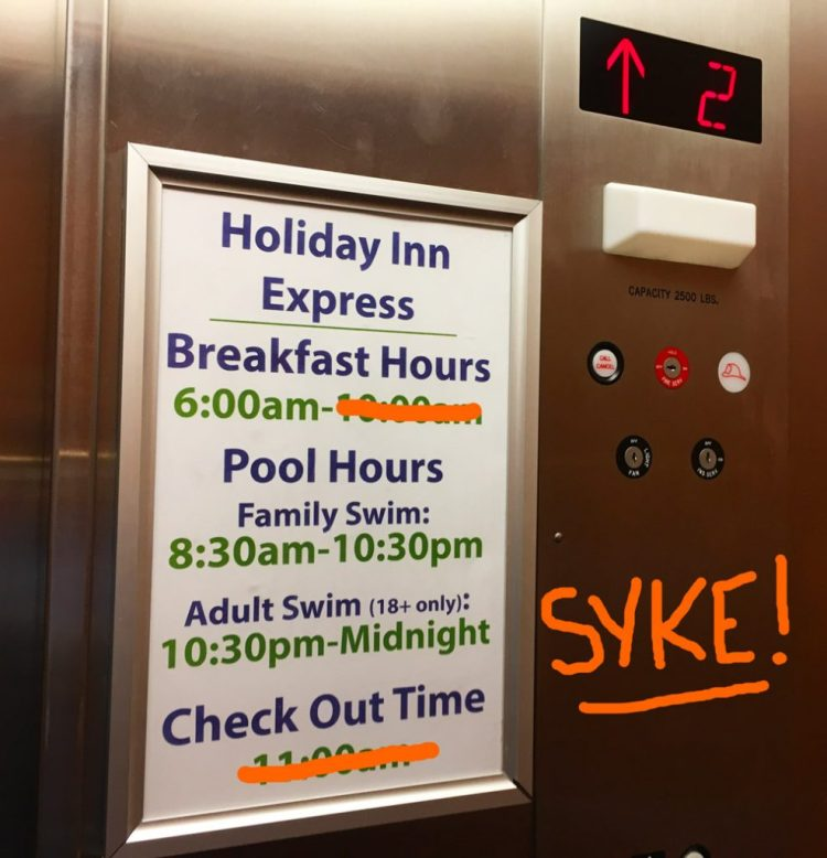 Holiday Inn Express Snoozapalooza - Bustedwallet.com