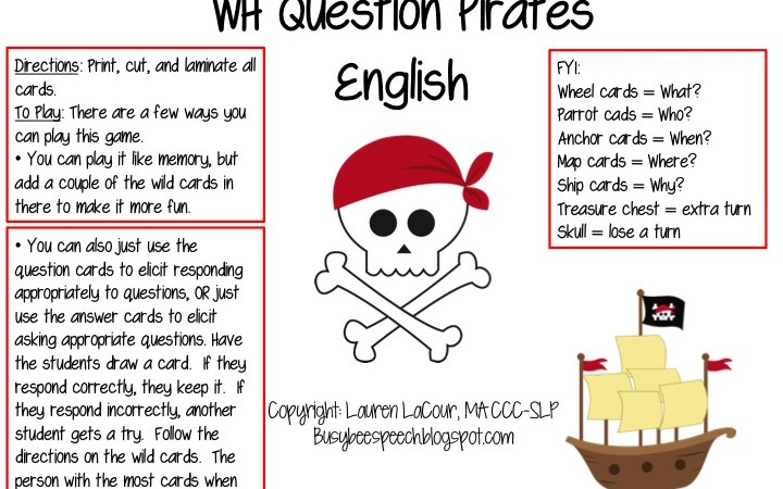WH Question Pirates English & Spanish
