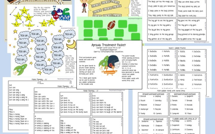 Apraxia Packet for Later Sounds