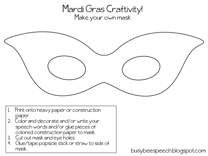 Mardi Gras Mambo Freebie Busy Bee Speech – Mardi Gras Worksheets