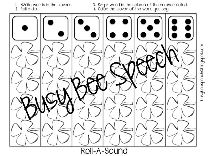 St. Patty's Day Worksheets & HW Packet!! - Busy Bee Speech