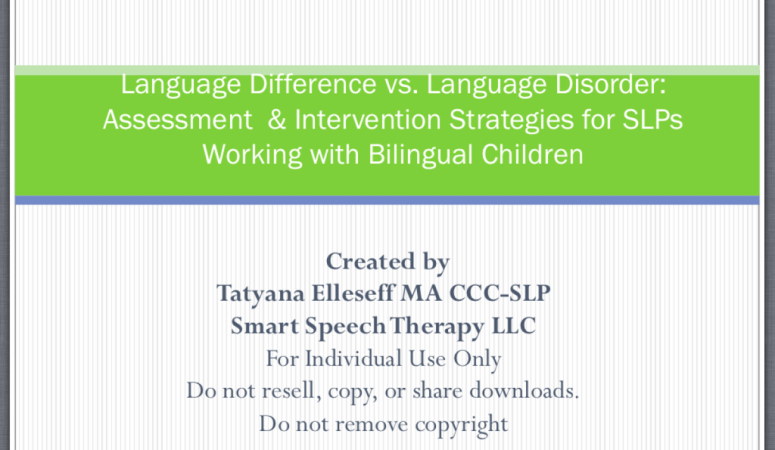 Product Review: Language Difference vs. Disorder