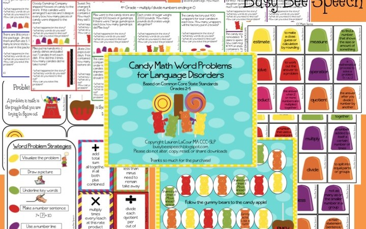 Candy Math Word Problems for Language Disorders