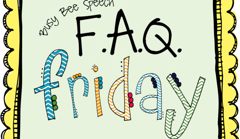 FAQ Friday: Articulation