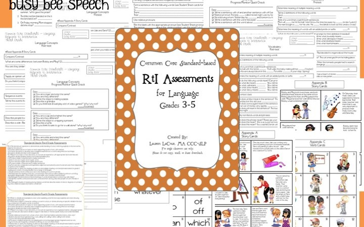 Common Core RtI Assessments 3-5 with a freebie!
