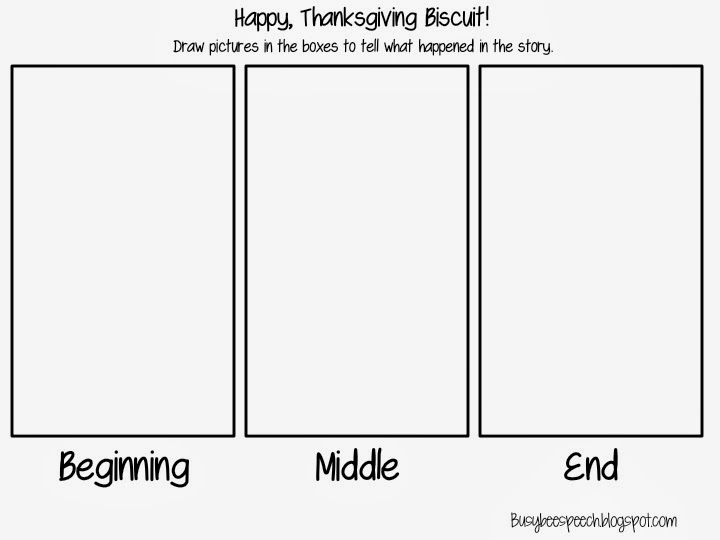 Happy Thanksgiving, Biscuit {FREEBIE} - Busy Bee Speech