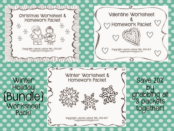 Christmas Worksheets & MORE! - Busy Bee Speech