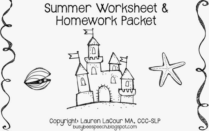 Summer Worksheets with a Freebie!  :)
