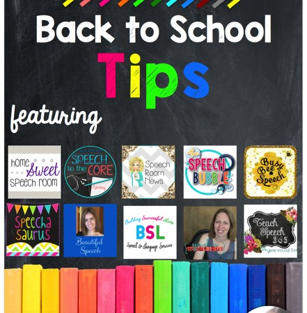 Back to School Tips on Speech Peeps