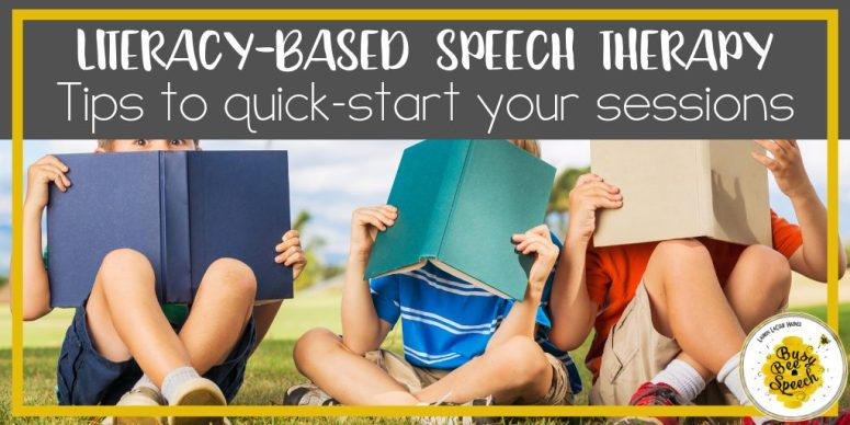 Literacy-based speech therapy tips using communicative reading strategies