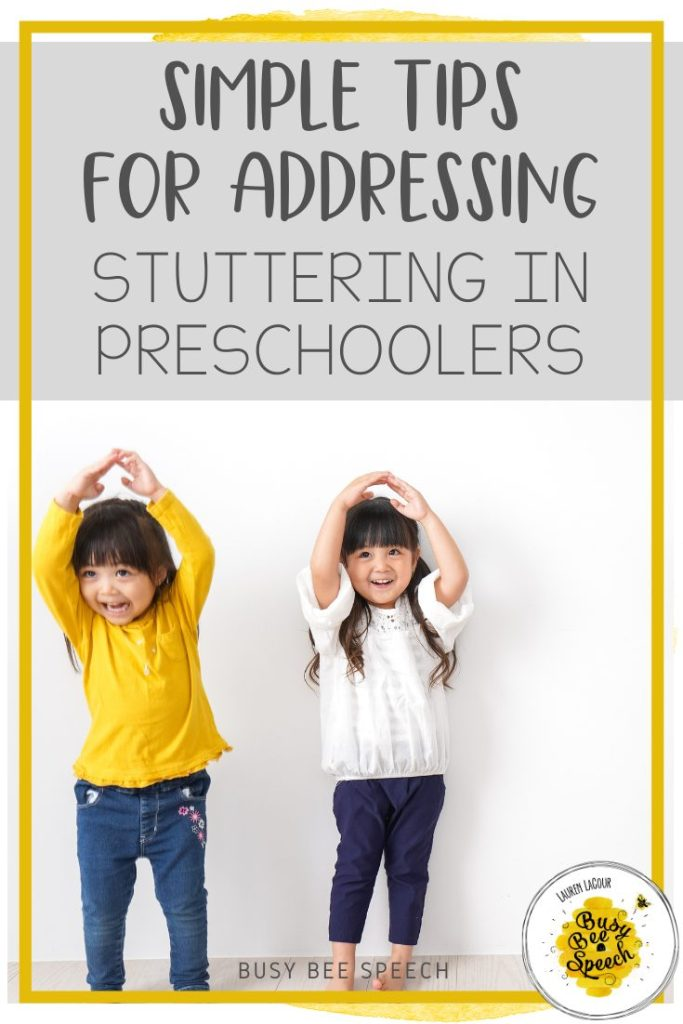 Simple tips for addressing stuttering in preschoolers