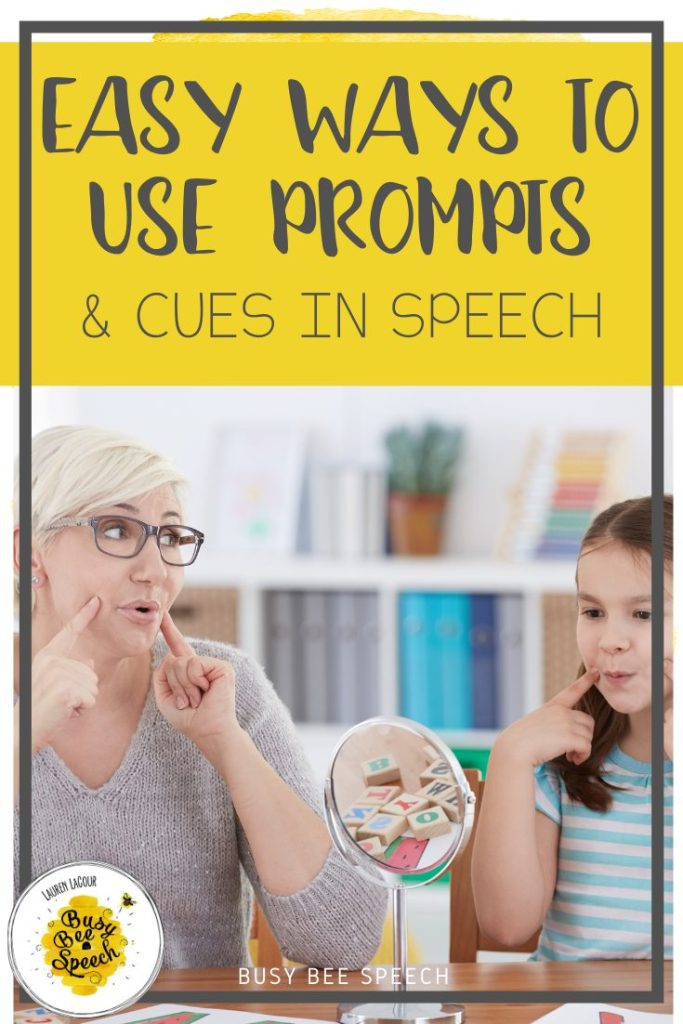 easy ways to use prompts in speech therapy