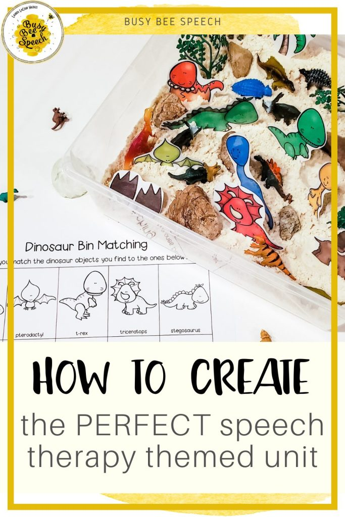 How to create the perfect unit for speech therapy themes