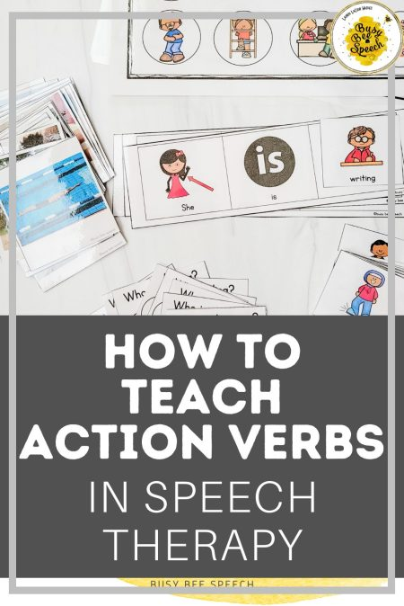 4 easy ways on how to teach action verbs in preschool speech therapy.