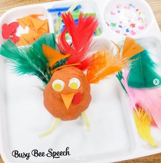 playdough turkey