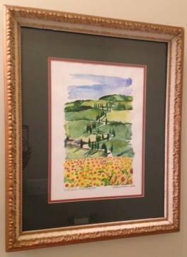 sunflower framed pic