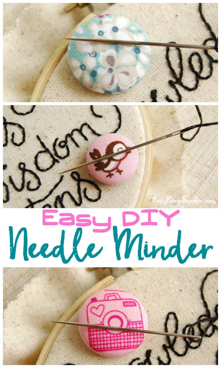 Needle Minder Diy : needle, minder, Needle, Minder, Minutes!, Being, Jennifer