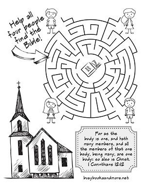 Church Body Of Christ Coloring Sketch Coloring Page