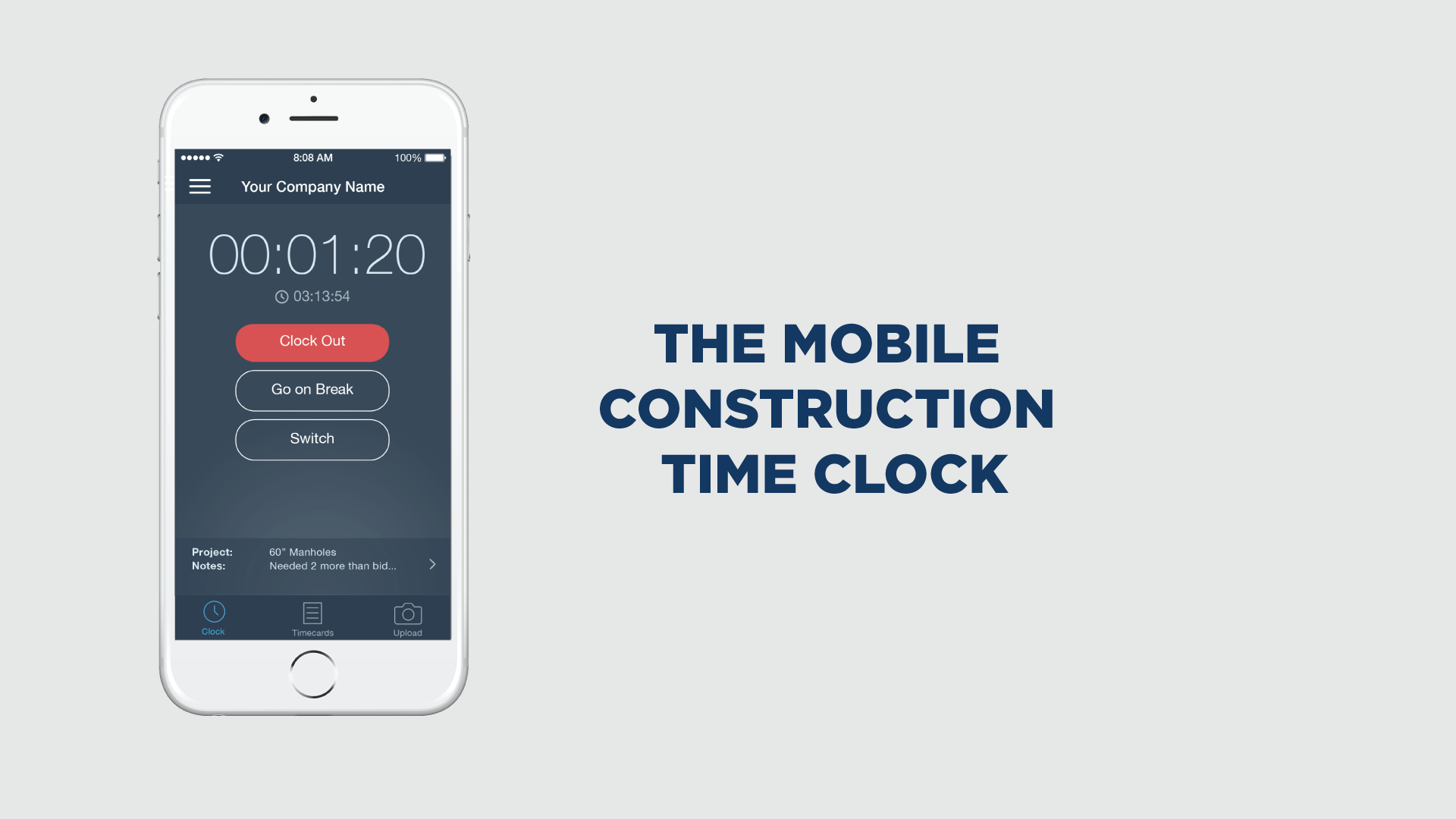the mobile construction time clock | busybusy™