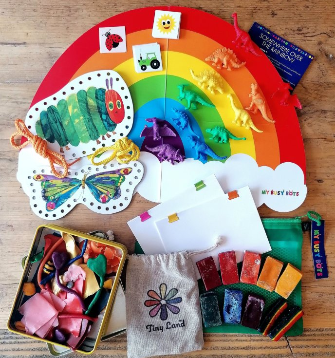 Travel play - play dates - eating out - travel toys - flight ideas - fine motor - small world - dinosaurs - threading - modelling - beeswax - tiny land
