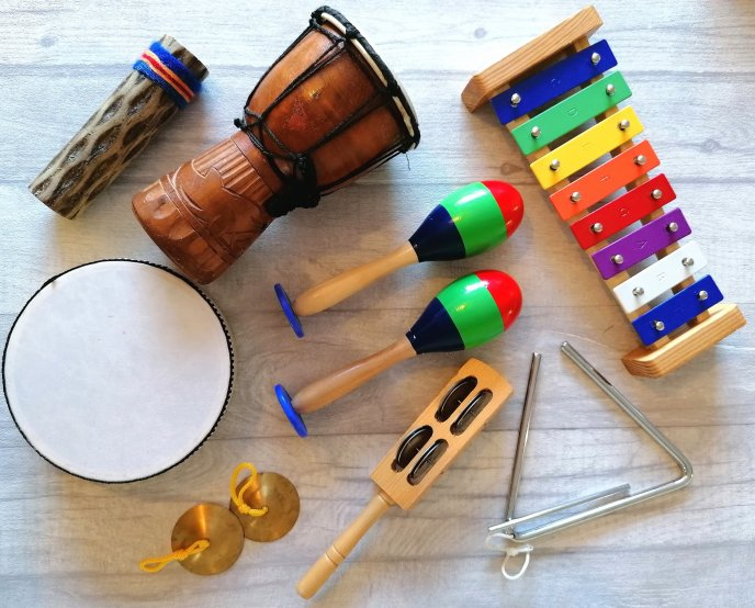Range of musical instruments - phase 1 phonics game - phases
