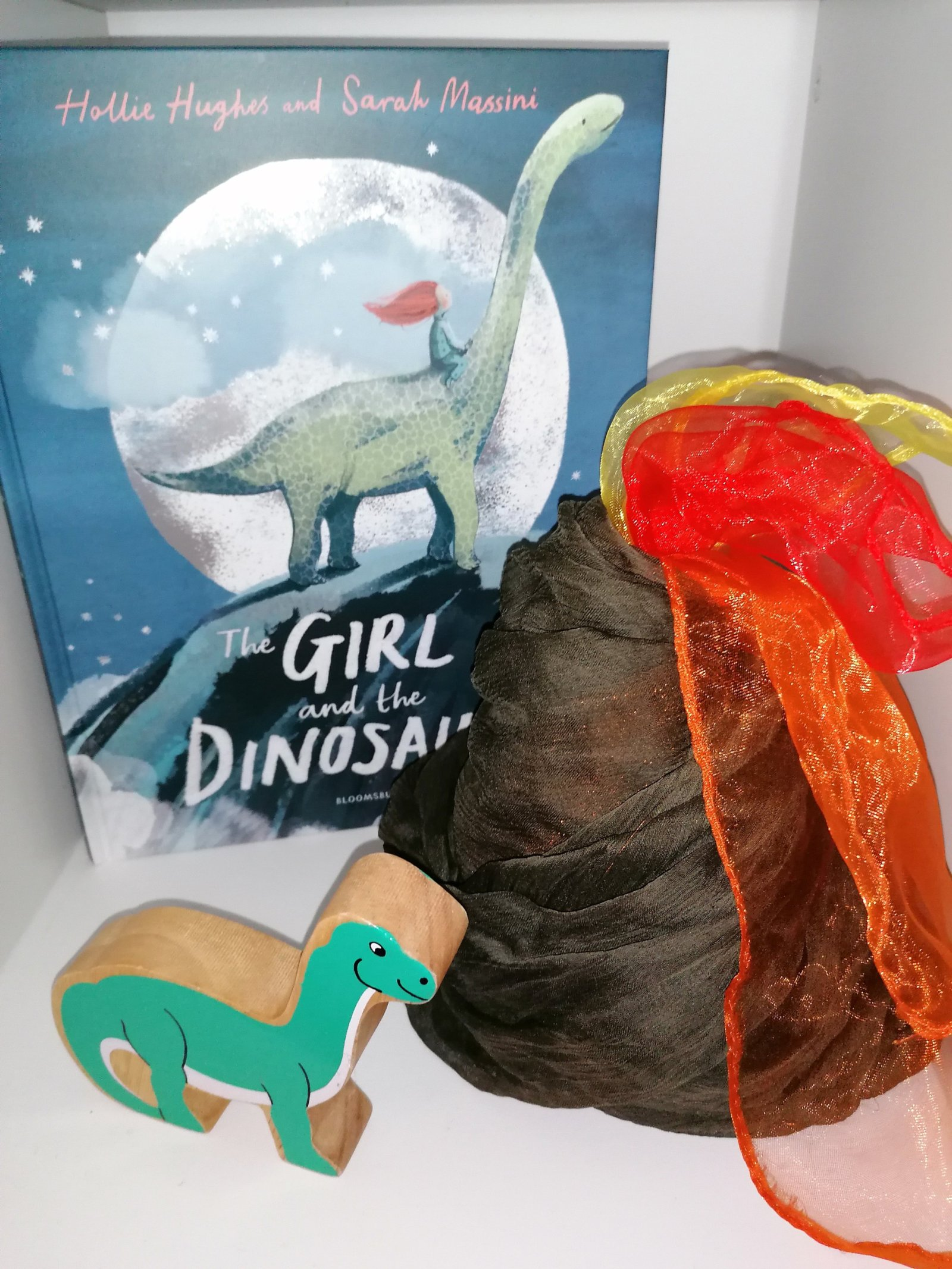 The Girl an the Dinosaur story sack
