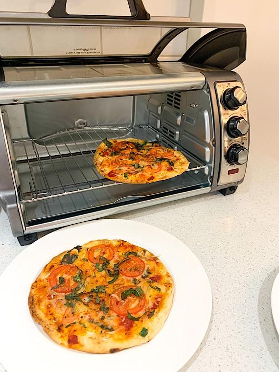 dairy free flatbread margarita pizza with hamilton beach sure crisp air fryer toaster oven