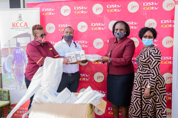 MultiChoice Uganda donates UGX281.3M in PPE to KCCA and the NTF