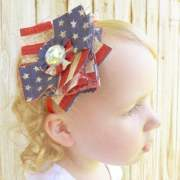 boutique bows diy patriotic patchwork