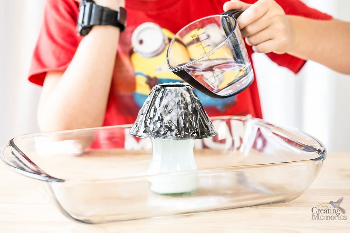 Easy Exploding Volcano Experiment For Kids Science Project