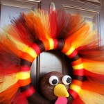 Easy Thanksgiving Turkey Wreath Craft Diy For Your Door