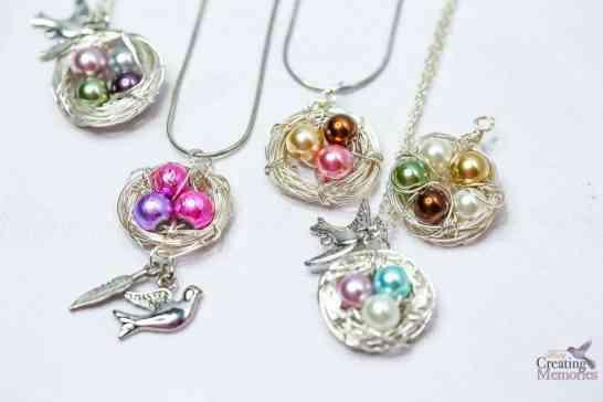 Beautiful DIY Bird Nest Necklace in under 30 minutes