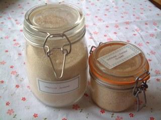 Vanilla and Orange & Ginger Sugars