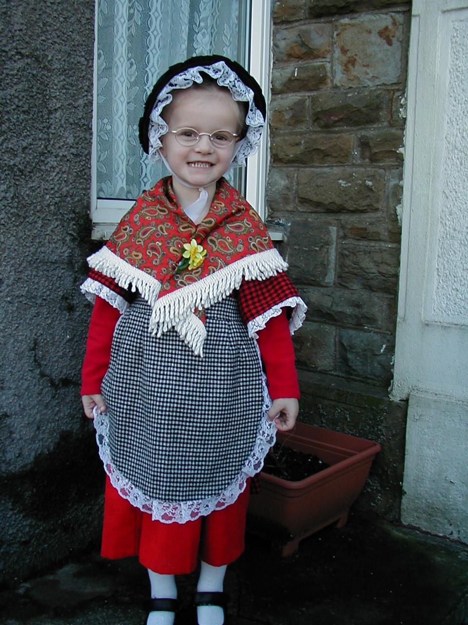 Chloe in Welsh Costume around 2002
