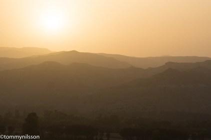 Sunset in Bamiyan valley