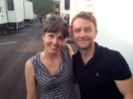 """Talking Dead"" Chris Hardwick & me after the Georgia heat punched us in the face for 2 days, AMC"