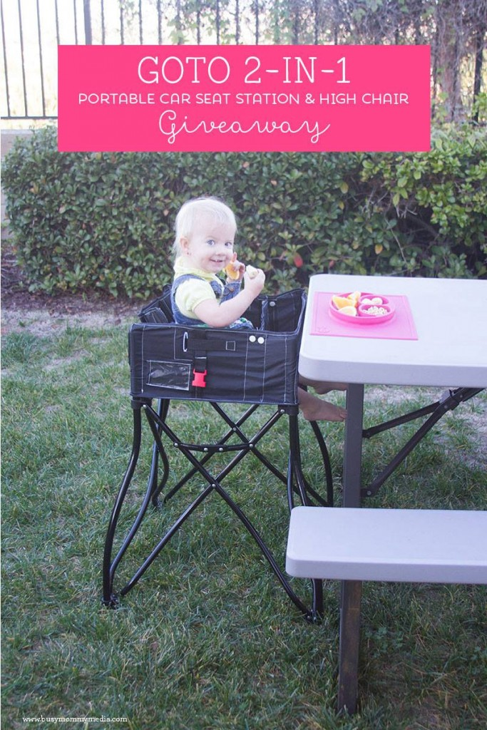 GoTo 2in1 Portable High Chair Giveaway