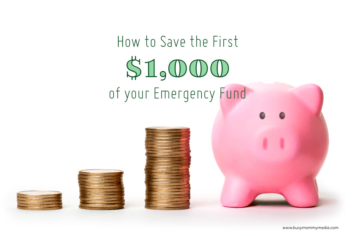 How To Save The First Of Your Emergency Fund