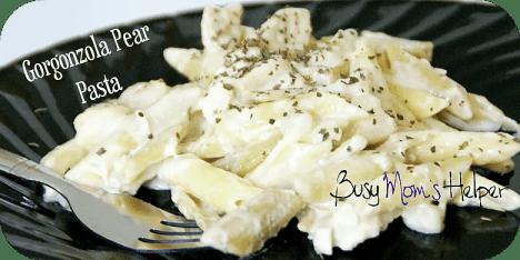 Gorgonzola Pear Pasta / Busy Mom's Helper