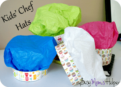DIY Kids Chef Hats / Busy Mom's Helper