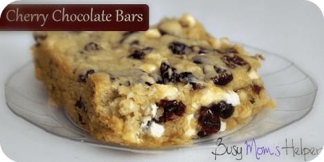 Cherry Chocolate Bars / Busy Mom's Helper