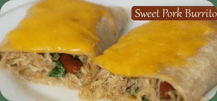 Sweet Pork Burrito / Busy Mom's Helper