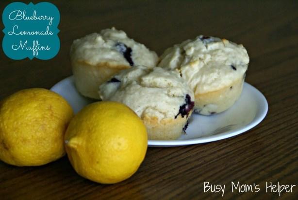 Blueberry Lemonade Muffins / Busy Mom's Helper
