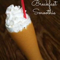 Pumpkin Breakfast Smoothie