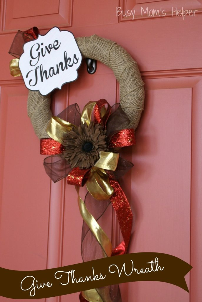 DIY Give Thanks Wreath / Busy Mom's Helper
